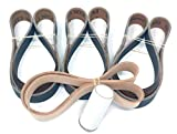 1X30 Knife Sharpening Belt Kit with Super Strop Leather Honing Belt & 15 Pack of Premium Quality Silicon Carbide Sharpening Sanding Belts 600, 800, 1000 Grit