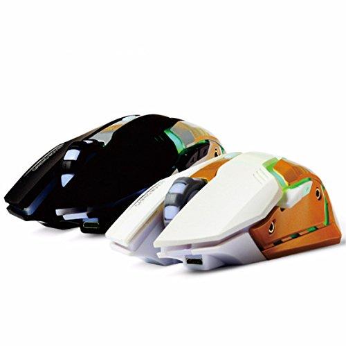 Preisvergleich Produktbild Wiederaufladbare drahtlose Maus usb Licht leise leise Maus Standard Version _USB flache Kopf weiße Maus