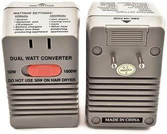 Simran SM-1650 Step Down Power Converter for International Travel Converts 220 Volt to 110 Volt, Dual Setting 50W / 1600W