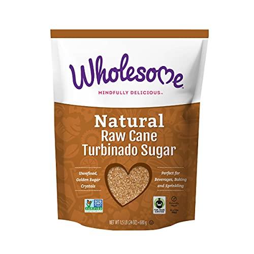 Wholesome Natural Raw Cane Turbinado Sugar, Fair Trade, Unrefined, Non GMO & Gluten Free, 1.5 Pound (Pack of 12)