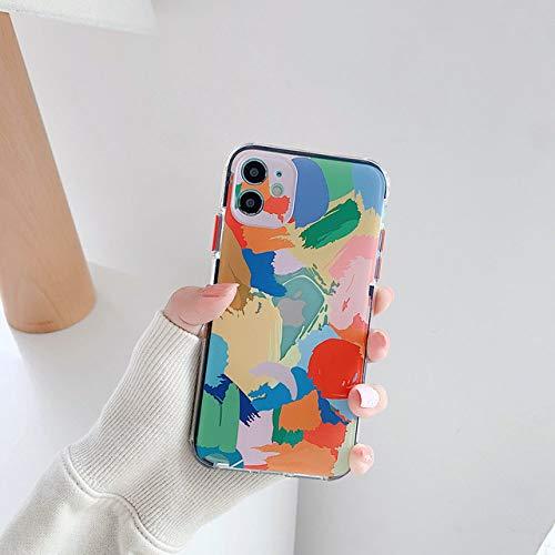 LIUYAWEI Estuches para teléfono con Pulsera Graffiti para iPhone 11 Pro MAX X XS XR 7 8 Plus SE 2020 12 Mini Carcasa Trasera Suave con Cadena de Colores, Estuche, para iPhone 12Pro MAX