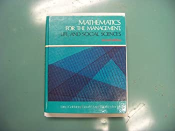 Mathematics for the Management, Life, and Social Sciences 0135625122 Book Cover