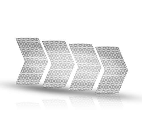 Riesel Design - re:Flex Rim - Reflektierende Sticker für Deine Felgen - Sicherheit im Dunkeln - Silver