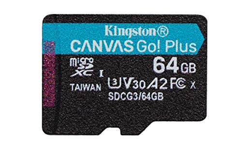 Kingston SDCG3/64GB SP microSD Speicherkarte ( 64GB microSDXC Canvas Go Plus 170R A2 U3 V30 Ohne SD Adapter)