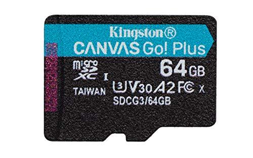 Kingston SDCG3/64GBSP Tarjeta microSD ( 64GB microSDXC Canvas Go Plus 170R A2 U3 V30 Sin SD adaptador)