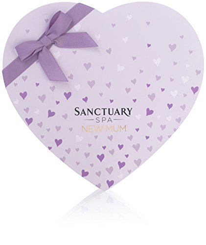 Sanctuary Spa Baby Shower Gift Set, New Mum Box of Treats with Stretch Mark Oil, Wet Skin Moisturiser, Shower Gel, Hand Cream and Face Mask