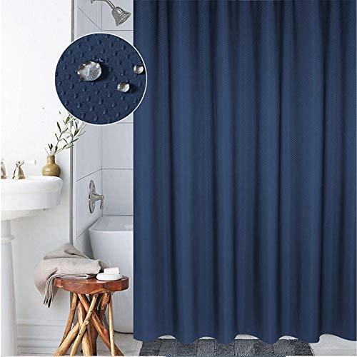 Meiosuns Duschvorhang oder Liner Polyestergewebe Duschvorhänge Waschbare Vorhangfolie Mold und Mildew Resistant mit weißen Kunststoffhaken, extra verdicken, (200 * 220cm, Blau)