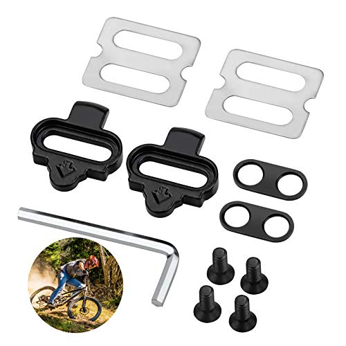 Kupink Fahrrad Schuhplattenset Pedalplatten Pedal Cleats Tool Compatible mit Shimano SPD Rennrad Bike Klampen Set Pedalklampe mit Sechskantschlüssel