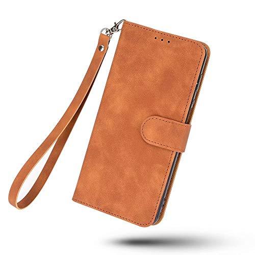 LORMI Funda para Xiaomi Poco F3, Funda de cuero con diseño clásico con ranura para tarjeta y cierre magnético Flip Fold Case para Xiaomi Poco F3 (marrón)
