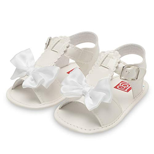 Best Shoes for Baby Start Walking,UROSA Infant Baby Girls Bowknot Crib Shoes Soft Sole Anti-Slip Single Shoes Sandals