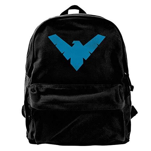 Nightwing - Juego de mochilas escolares de lona ligera para niños