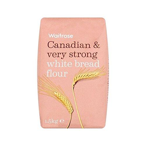 Canadese Molto Forte Pane Bianco Di Farina Waitrose 1.5Kg - Confezione da 4