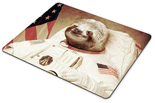 Smooffly Gaming Mouse Pad Custom,Funny Sloth Dress As a Astronaut Personality Mouse Pad Unique Design Mousepad Photo #4