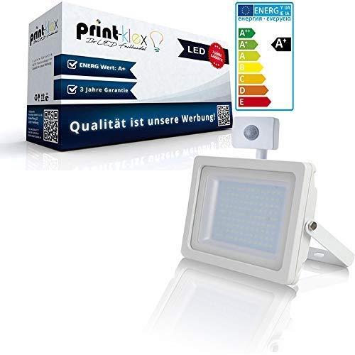 LED schijnwerper wit 30W buiten schijnwerper 6400K koel wit schijnwerper buitenspot lamp - met sensor