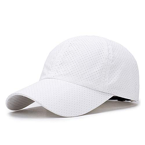 Outdoor Sonnenschutz Atmungsaktiver Sonnenhut Lässig Schirmhut 56-59cm Helles Brettweiß