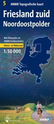 Friesland Zuid/Noordoostpolder: schaal: 1:50.000