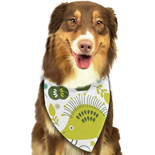 Aeykis Imagen floral del vector Triángulo Perro Pañuelo Pajaritas para mascotas y gatos