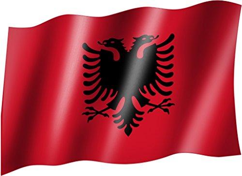 Flagge/Fahne ALBANIEN mit Wappen Staatsflagge/Landesflagge/Hissflagge mit Ösen 150x90 cm, sehr gute Qualität