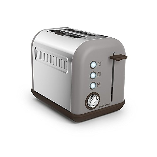 Morphy Richards 222005 222003 Accents 2-SLICE Toaster, 850 W, Pebble Grille-pain, gris minéral