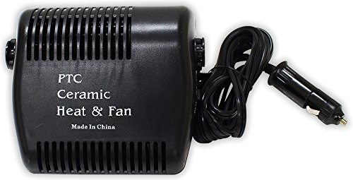 Great Features Of Hawk 12 V, 120 Watt Ceramic Heater & Fan For Vehicle Accessory Outlet: TA-07640