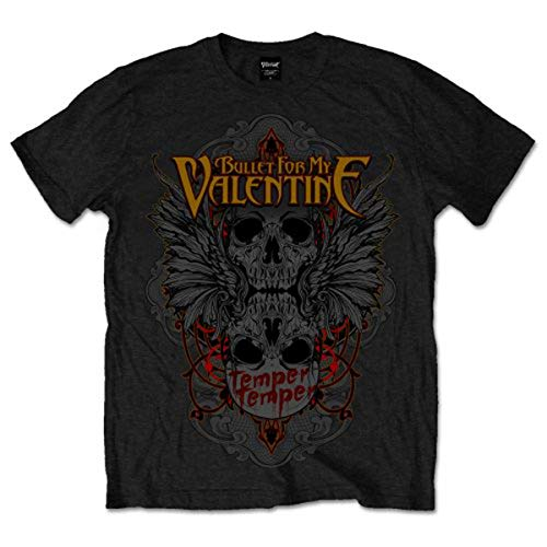 Bullet For My Valentine Winged Skull - T-Shirt - Homme, Noir (Black), Large