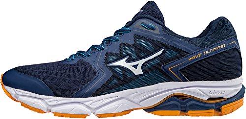 Mizuno Wave Ultima 10, Zapatillas de Running para Hombre, Azul (Estate Blue/White/Flame Orange 01), 44 EU