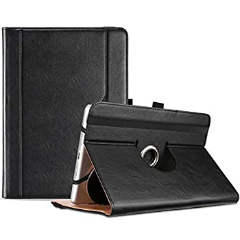ProCase 7 -8  Inch Universal Tablet Case Protective Cover Stand Folio Case for 7 8 Inch Android Touchscreen Tablet with 360 Degree Rotatable Kickstand and Multiple Viewing Angles -Black