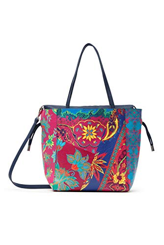 Desigual Womens PU SHOPPING BAG, Blue, U