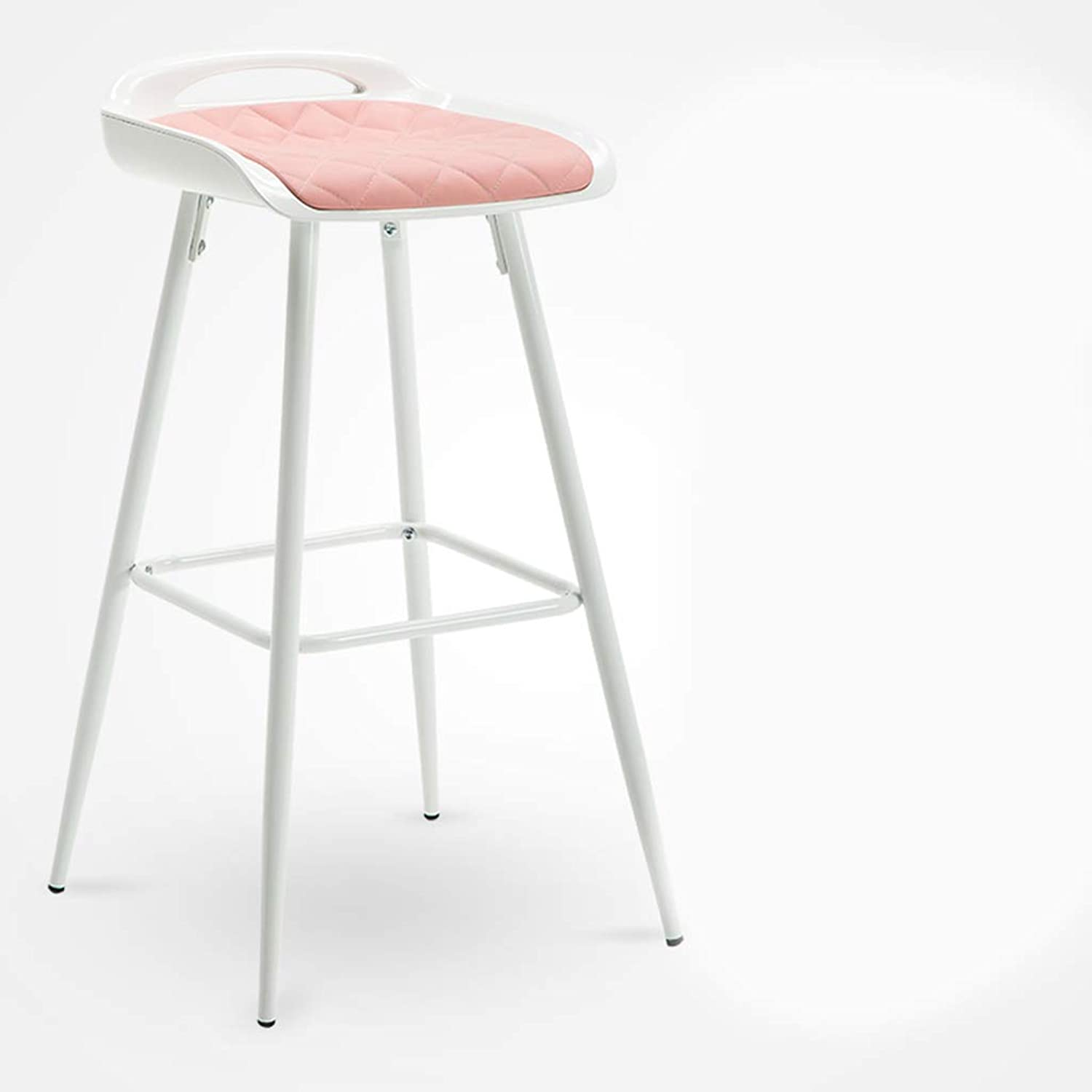 Yan Fei Bar Stool High Stool Chair Bar Stool Wrought Iron Stool Bar Table and Chairs Bar Chair Lounge Chair Front Chair Comfortable Stools (color   A)