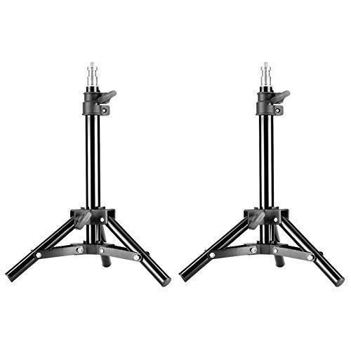 Neewer - Mini Trípode de Retroiluminación de Aluminio de Mesa para Fotografía y Grabación de Vídeo,50 centímetros,2 Unidades
