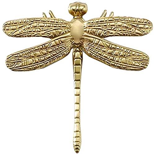 Gmjay Manopole per Mobili in Ottone Dragonfly Maniglie per la Decorazione della Casa Cassetto per Ante dell'Armadio Armadio per Guardaroba Maniglie per Comò