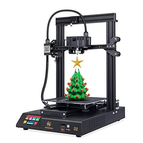 Stampante 3D MINGDA D2, stampante fai da te FDM con estrusore aggiornato e touch screen da 3,5', riprendere la stampa, 230 x 230 x 260 mm (D2-P)