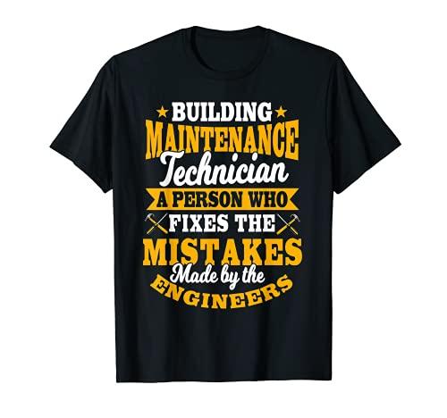 Manutención Hombre Regalos Divertidos Errores De Fijación Por Engineers Camiseta
