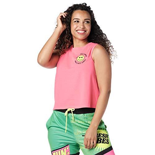 Zumba Dance Atlético Estampado Fitness Camiseta Mujer Sueltas de Entrenamiento Top Deportivo Tank Tops, Pink Vibes, X-Small Womens