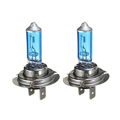 BEESCLOVER Lot de 2 phares de voiture H7 12 V 55 W Blanc 6300 K Bleu 100 W