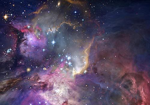 wandmotiv24 Fototapete Weltraum Weltall Galaxie, XXL 400 x 280 cm - 8 Teile, Fototapeten, Wandbild, Motivtapeten, Vlies-Tapeten, Sternennebel NASA Hubble M6503