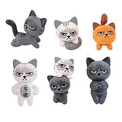 Miniatur Gartendekoration – 6 schöne Katzen