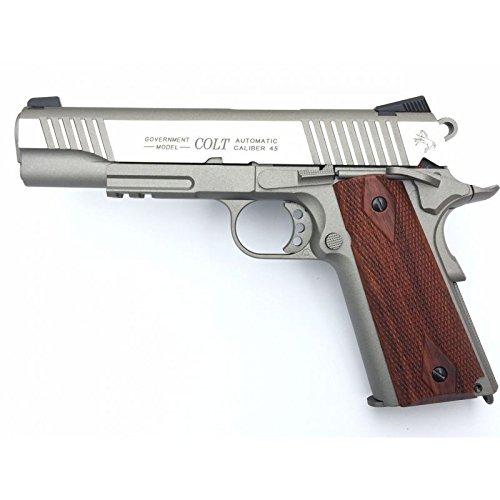 CyberGun Colt 1911Schiene Gun Stainless CO2Nachbildung Leistung 0,5Joules