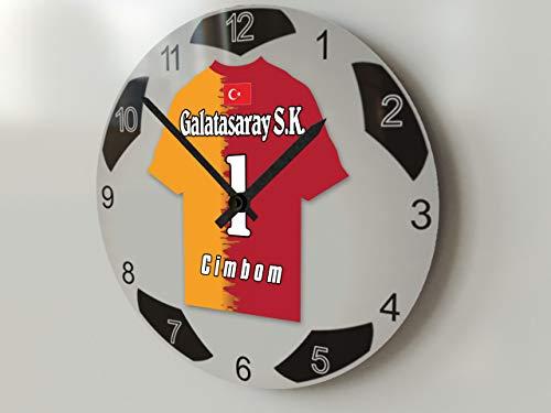 FanPlastic UCL European Club Football, Fußball-Uhr, groß, Design für alle Teams, Fußball-Uhrwerk ! - Galatasaray S.K.