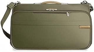 Briggs & Riley Baseline Compact Tri-Fold Garment Bag,Olive,14x22x8.5