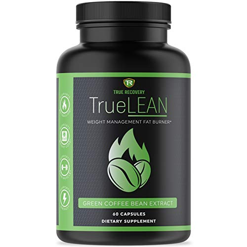 True Recovery TrueLEAN Green Coffee Bean Extract Fat Burner & Detox - Lean Body, Energy & Metabolism Booster, Appetite Suppressant and Carb Blocker - 60 Weight Loss Pills for Men and Women