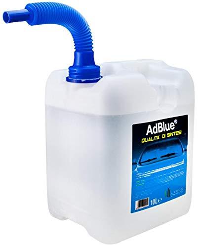 AdBlue Additivo Gas di Scarico Motori Diesel Tanica con Tubo di Riempimento 10 Lt