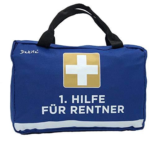 Dakita 1. Hilfe Tasche zur Rente - 28x18x8cm groß | Lustiges Geschenk zum Ruhestand Abschied für Kollegen | Ideales Abschiedsgeschenk für Rentner zum Renteneintritt