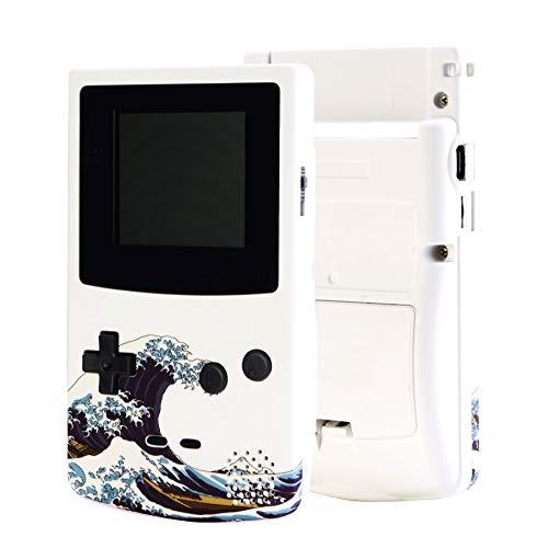 eXtremeRate - Carcasa de repuesto con diseño de onda suave GBC con botones y destornilladores para Gameboy Color – Consola de juego portátil no incluida