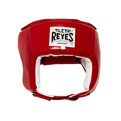 Cleto Reyes Official Amateur Headgear (Now Approved by U.S.A. Boxing) (L, Red)