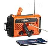 ThorFire Radio Solaire Multifonction, Radio Aventure Camping, avec AM/FM/WB/Radio, Radio à Manivelle,...