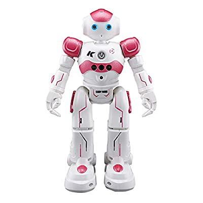 Lumumi RC Robot Toy, Electronic Remote Control Robot Smart Action Walk Dancing Gesture Sensor Kids Toy Gift (Pink)