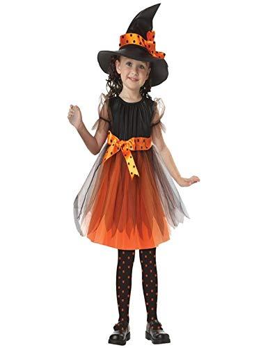 Halloween Bambini Ragazza Abiti da partito + punta Cappello , Hiroo Bambine Elegante Servizio di prestazione Vestito da costume Abbigliamento Outfits (120, Giallo)