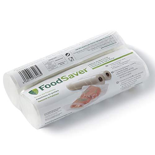 Foodsaver 2001 FSR2002-I envasado al vacío, 2 Rollos de 20 x 6.70 cm, 20 cm x 6.7 m