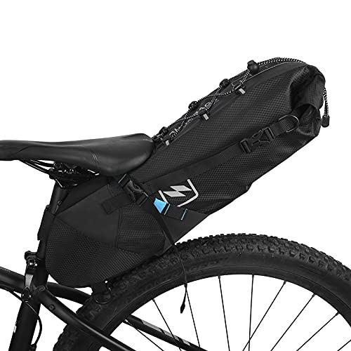 Lixa-da Impermeable Bicicleta Bolsa Bicicleta Bolsa para sillín de Bicicleta alforja Bicicleta MTB montaña Carretera Bicicleta Bolsa de Cola Asiento Ajustable 3l-10l